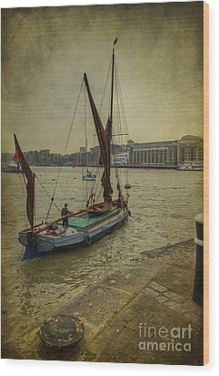 Wood Print featuring the photograph Sailing Away... by Clare Bambers