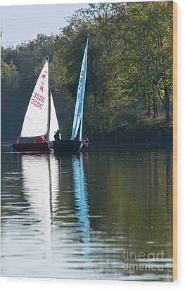 Sailing Boats Wood Print by Andrew  Michael