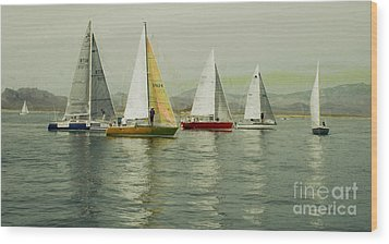 Wood Print featuring the photograph Sailing Day Regatta by Julie Lueders