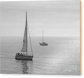 Sailing In Calm Waters Wood Print by Artist and Photographer Laura Wrede