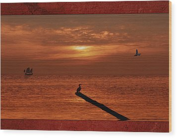 Sailing Into The Sunset Wood Print by Tom York Images