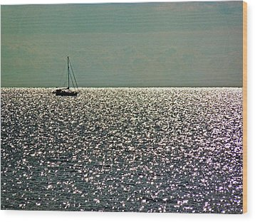 Wood Print featuring the photograph Sailing On A Sea Of Diamonds by William Fields