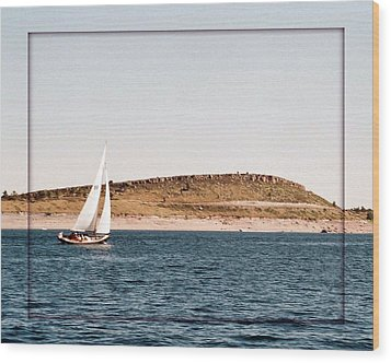 Wood Print featuring the photograph Sailing On Carter Lake by David Pantuso