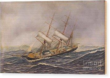 Sailing Ship - Saint Mary Wood Print by Pg Reproductions