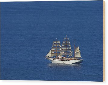 Wood Print featuring the photograph Sailing Ship- St Lucia by Chester Williams