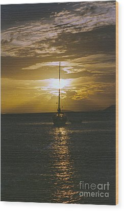 Sailing Sunset Wood Print by William Norton