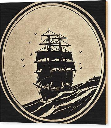 Sailing Vessel Wood Print by Susan Leggett