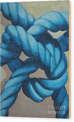 Sailor Knot 8 Wood Print by Ana Maria Edulescu
