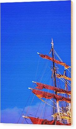 Sails Wood Print by Barry R Jones Jr