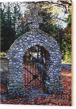 Saint Ann Cemetery Wood Print by Anne Raczkowski