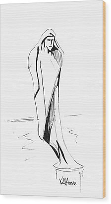 Saint Anthony Wood Print by Kev Moore