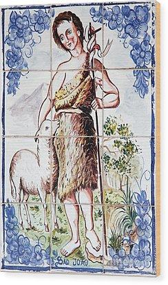 Saint John Wood Print by Gaspar Avila