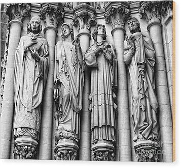 Saint John The Divine Wood Print by Anne Raczkowski