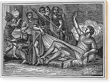 Saint Lawrence (c225-258) Wood Print by Granger