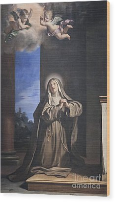 Saint Mary Magdalene Penitent By Il Guercino Wood Print by Roberto Morgenthaler