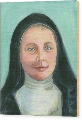 Saint Therese Of Lisieux Wood Print by Susan  Clark