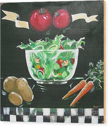 Salad Bowl Wood Print
