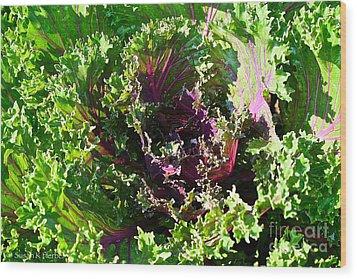 Salad Maker Wood Print by Susan Herber