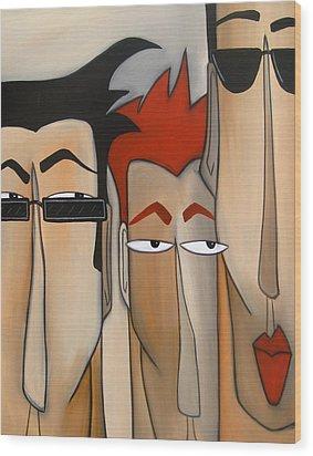 Sales Crew Wood Print by Tom Fedro - Fidostudio