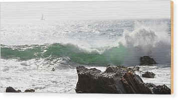 Wood Print featuring the photograph Saling 1 by Michael Rock