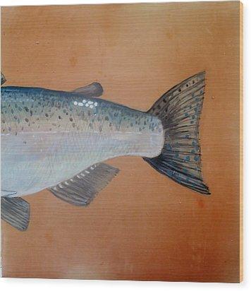 Salmon 2 Wood Print by Andrew Drozdowicz