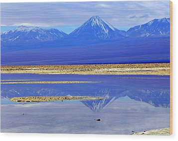 Salt Lake At The Atacama Desert Chile Wood Print