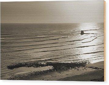 Saltwick Bay Wood Print by Svetlana Sewell