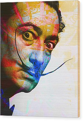 Salvador Dali Wood Print by Andrew Osta