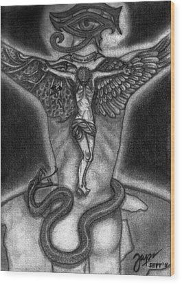 Salvino De Cristo Wood Print by Cheppy Japz