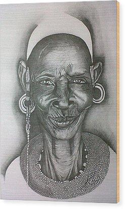 Samburu Tribe I. Wood Print by Paula Steffensen