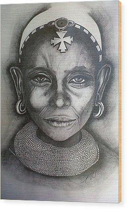 Samburu Tribe II. Wood Print by Paula Steffensen