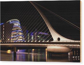 Samuel Beckett Bridge Of Dublin Wood Print
