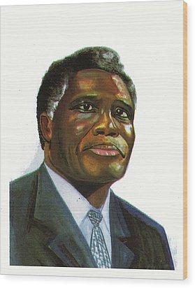 Samuel Kobia Wood Print by Emmanuel Baliyanga