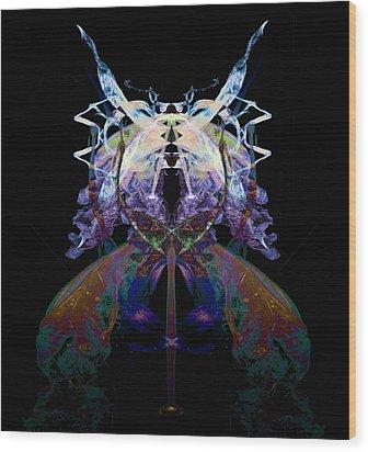 Samurai Bug Plant Wood Print by David Kleinsasser