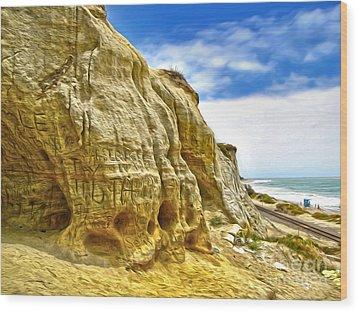 San Clemente Skull Rock Wood Print by Gregory Dyer