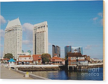 Wood Print featuring the photograph San Diego - Seaport Village by Jasna Gopic