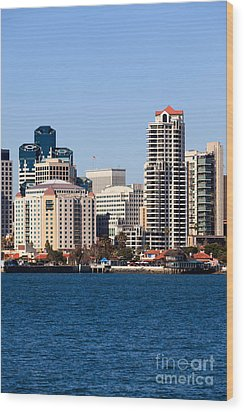 San Diego Buildings Photo Wood Print by Paul Velgos