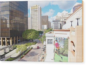 Wood Print featuring the photograph San Diego Downtown by Jasna Gopic