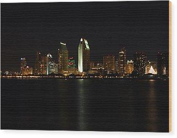 San Diego Wood Print by Steve Parr
