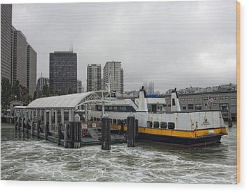 San Francisco - Ferry Building Wood Print