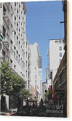 San Francisco - Maiden Lane - Outdoor Lunch At Mocca Cafe - 5d18011 Wood Print by Wingsdomain Art and Photography
