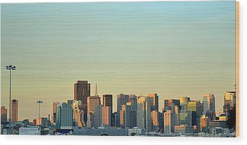 Wood Print featuring the photograph San Francisco Cityline by Rima Biswas