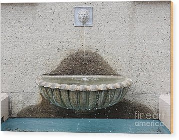 San Francisco Crocker Galleria Roof Garden Fountain - 5d17894 Wood Print by Wingsdomain Art and Photography
