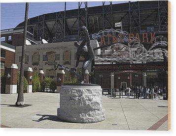 San Francisco Giants Ballpark  Statue Of Juan Marichal Wood Print