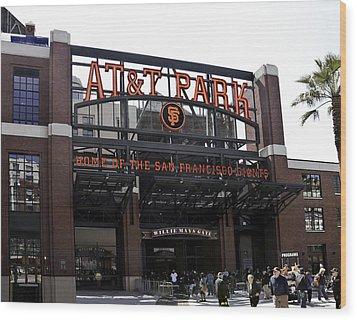 San Francisco Giants Baseball Park Wood Print