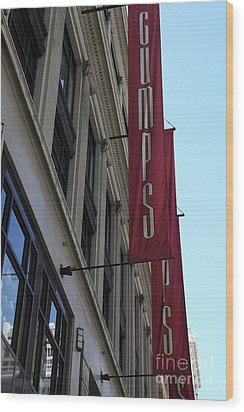 San Francisco Gumps Department Store - 5d17091 Wood Print by Wingsdomain Art and Photography