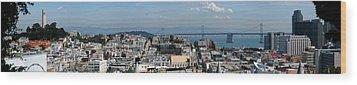 San Francisco Wood Print by Luis Esteves
