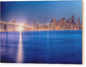 San Francisco Skyline Wood Print by Ariane Moshayedi