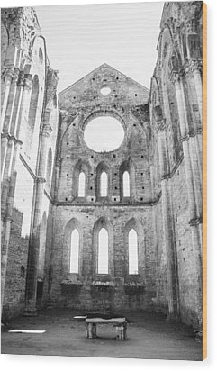 San Galgano Abbey Wood Print by Ralf Kaiser
