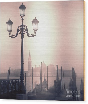 San Giorgio Maggiore Seen From Venice  Wood Print by Janeen Wassink Searles